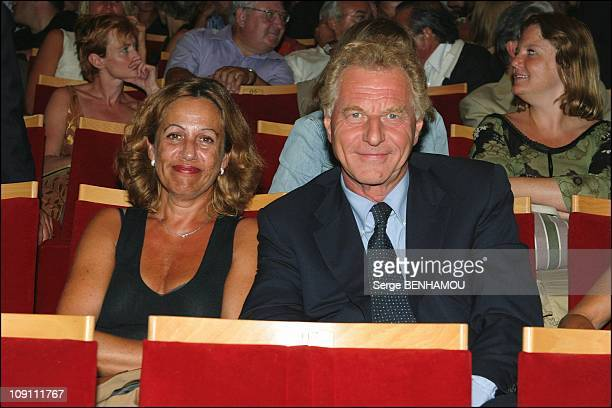 Press Conference Of Tf1 French Tv Channel On August 27 2003 In Paris France Robert Namias And His Wife Anne Barrere