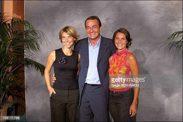 Press Conference Of Tf1 French Tv Channel On August 27 2003 In Paris France Alessandra Sublet JeanPierre Pernault And Nathalie Vincent