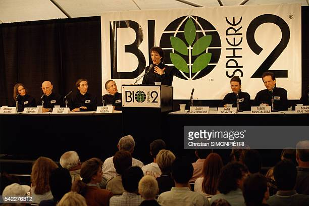 Press conference of the Biosphere team