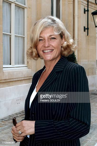 Press conference of the comeback of ARTE Annette Gerlach in Paris France on August 30 2004