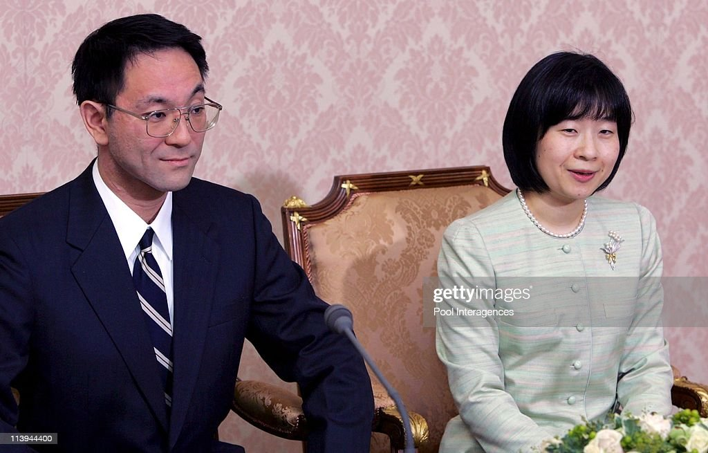 Press conference of the engagement of Japan's Princess Sayako, 35, with Yoshiki Kuroda, Tokyo city bureaucrat, 39 In Tokyo, Japan On December 30, 2004 - : ニュース写真