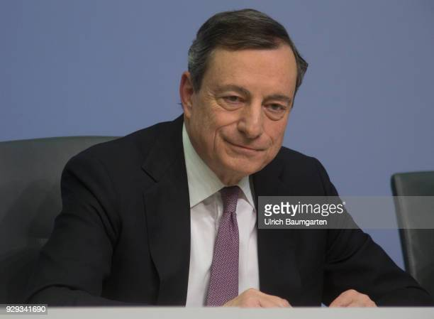 Press Conference of the European Central Bank in Frankfurt Mario Draghi President of the European Central Bank during the press conference