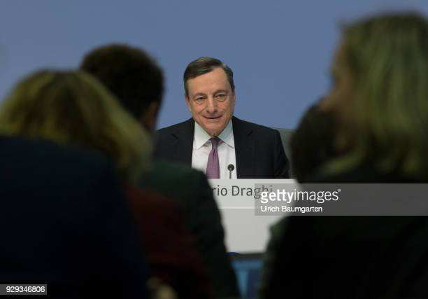Press Conference of the European Central Bank in Frankfurt Mario Draghi President of the European Central Bank during the press conference In the...
