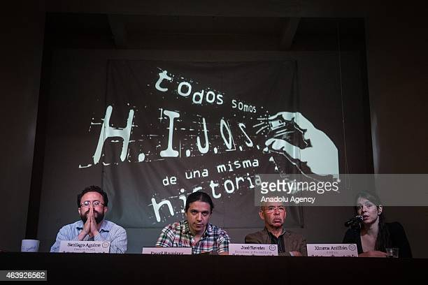 Press conference of the members of HIJOS Civil Organization on the occasion of its 15th anniversary and requiring the Mexican government clarifying...