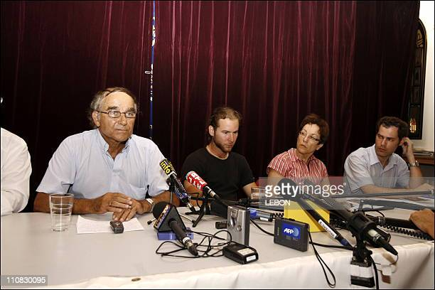 Press Conference Of The Siona Movement In The Presence Of Families Of Three Israeli Soldiers Abducted By Hezbollah And Hamas Gilad Shalit Eldad Regev...