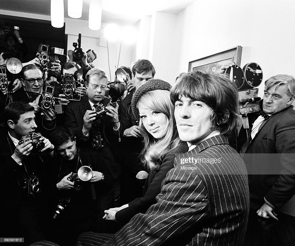 Press Conference On Following Day After George Harrison Wed Pattie Boyd In A Small Ceremony At