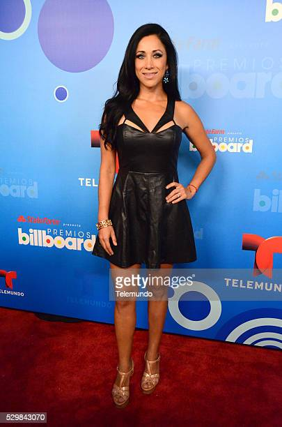 AWARDS 2014 Press Conference Pictured Monica Noguera at the Press Conference for the 2014 Billboard Latin Music Awards presented by State Farm from...