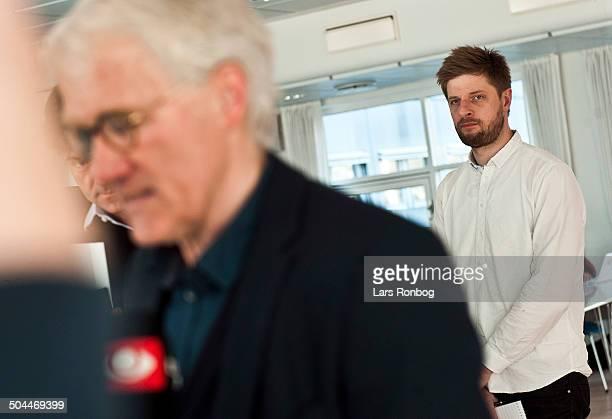 Press Conference Sportendk editor Morten Crone Sejersbøl National Teamcoach Morten Olsen Denmark © Lars Rønbøg FrontzoneSportdk