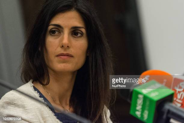 Press Conference The Mayor of Rome Virginia Raggi and the Minister of Justice Alfonso Bonafede present the project quotI ransom myself for Romequot...