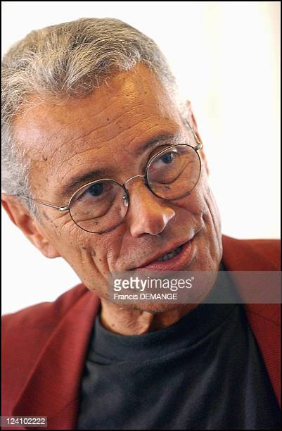 Press conference to support journalists Thierry Falise and Vincent Reynaud both still held captive in Laos in Paris France on June 20 2003 JeanMarie...
