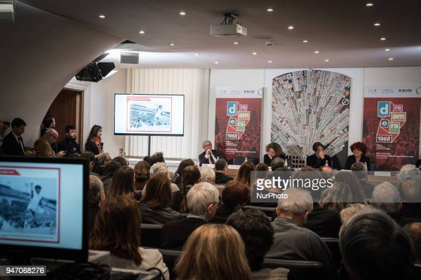 Press conference to the foreign press On the occasion of the 50th anniversary of 1968 Agi Agenzia Italia has reconstructed the historical archive of...