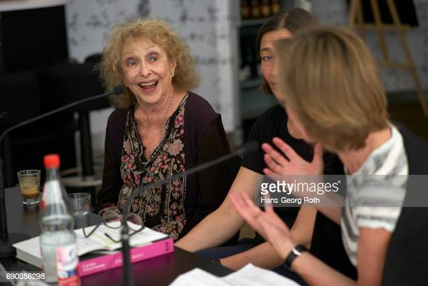 Press conference with Carolee Schneemann artist Prof Dr Susanne Gaensheimer director and Dr Sabine Breitwieser curator seen during the 'Carolee...