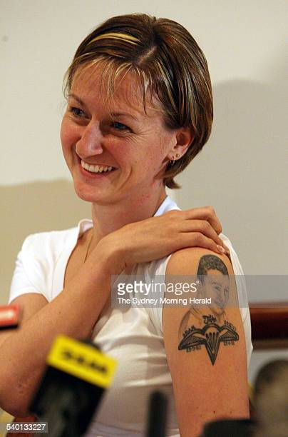 Press Conference with Mrs Shelley Kovco as she talks about the death of her husband Jake Kovco 21 September 2006 SMH Picture by PETER RAE
