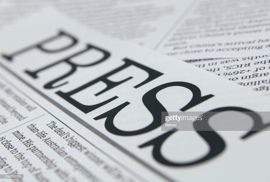 Press headlines concept : Stock-Foto