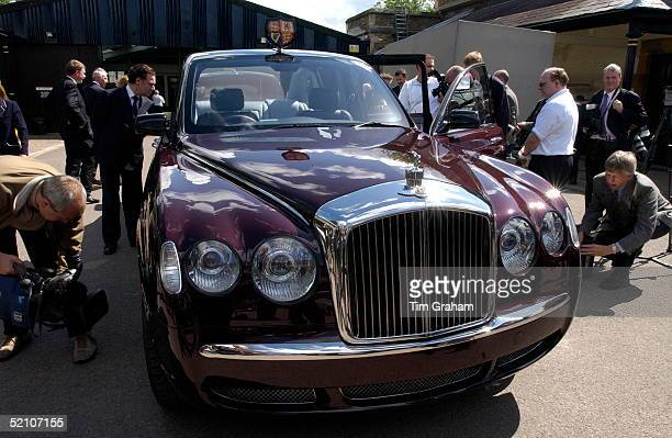 Press Journalists And Photographers Inspecting The New Bentley State Limousine Car Presented To Queen Elizabeth II As A Golden Jubilee Gift On Behalf...