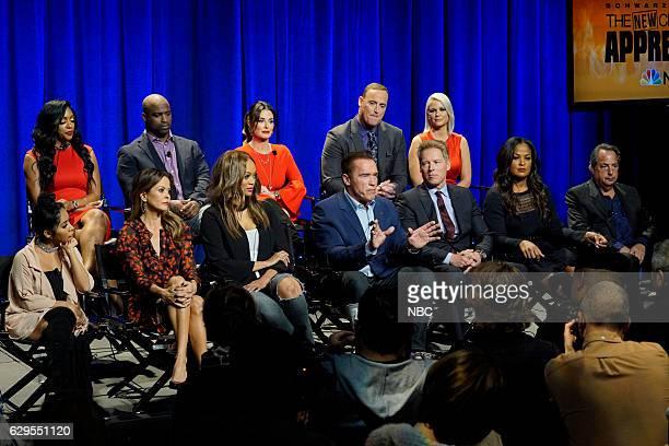 APPRENTICE 'Press Junket' Pictured Back Row Porsha Williams Ricky Williams Kyle Richards Matt Iseman Carrie Keagan Front Row Nicole Polizzi Tyra...