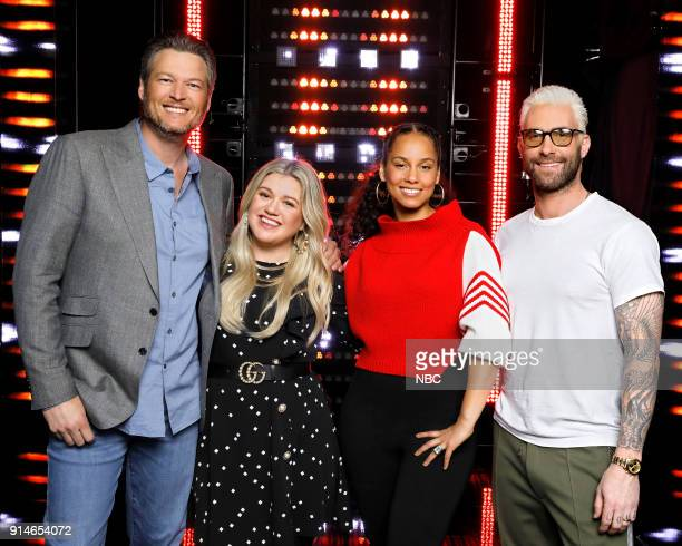 THE VOICE 'Press Junket' Pictured Blake Shelton Kelly Clarkson Alicia Keys Adam Levine Firsttime coach and superstar recording artist Kelly Clarkson...