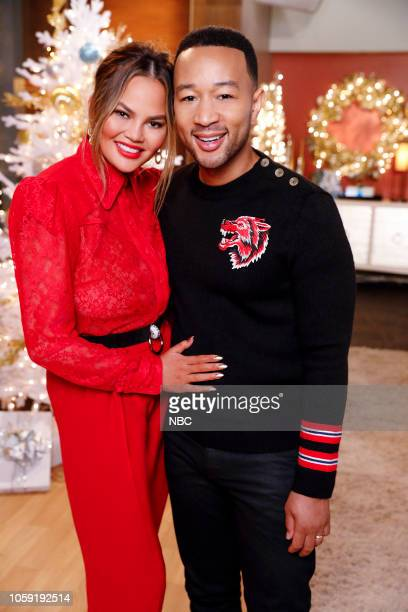 "Press Junket"" -- Pictured: Chrissy Teigen, John Legend --"
