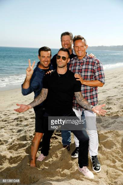 THE VOICE 'Press Junket' The boys on the beach have some fun before returning to The Voice which begins its 13th season with a twohour premiere on...