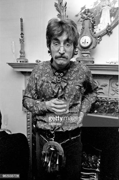 Press launch of 'Sgt. Pepper's Lonely Hearts Club Band' the eighth studio album by The Beatles May 1967. Pictured at house in 24 Chapel Street....