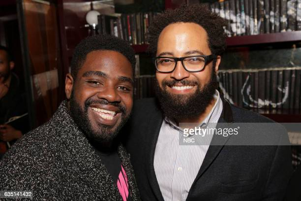 Press Mingle at Estrella West Hollywood Pictured Ron Funches Powerless Diallo Riddle Marlon