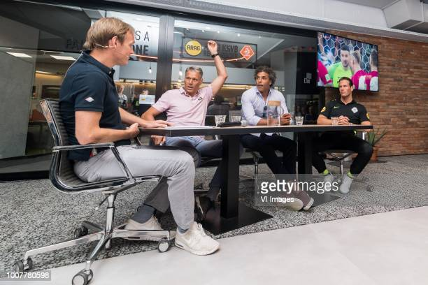 press officer Bas Ticheler of the KNVB chief officer for technical development of the FIFA Marco van Basten Pierre van Hooijdonk referee Danny...