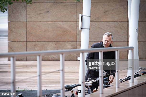 DEN HAAG Press Officer Wouter Bos is seen in front of the palace of justice in The Hague Netherlands on July 13 2015 In several speedtrials on Monday...