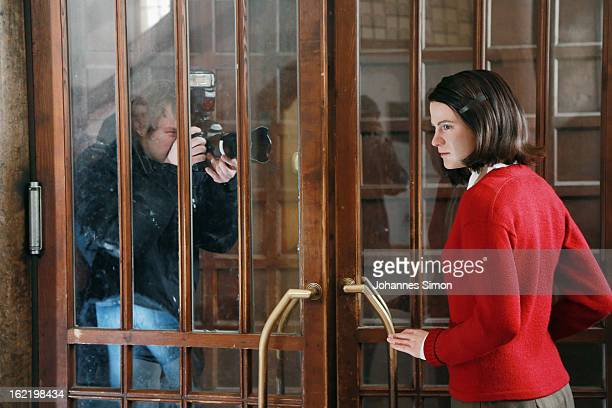 A press photographer takes a picture of a Madame Tussauds wax effigy of Sophie Scholl one of the most famous members of the German World War II...