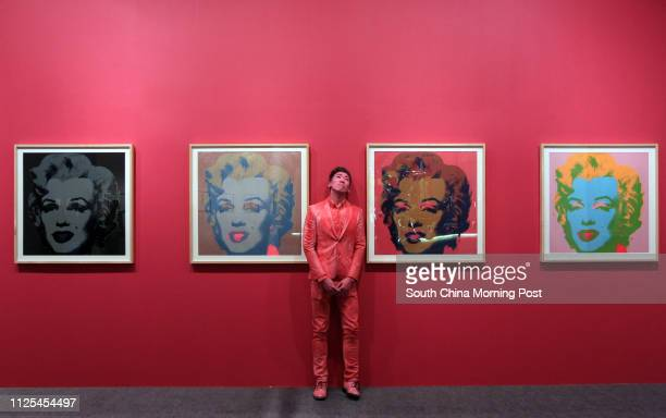 Press preview for the exhibition 'Andy Warhol 15 Minutes Eternal' held at the Hong Kong Museum of Art and opening to the public tomorrow Pictured is...