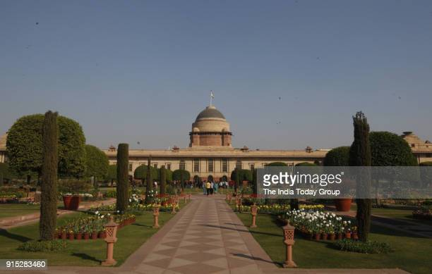 Press preview of Mughal Garden at Rashtrapati Bhawan in New Delhi