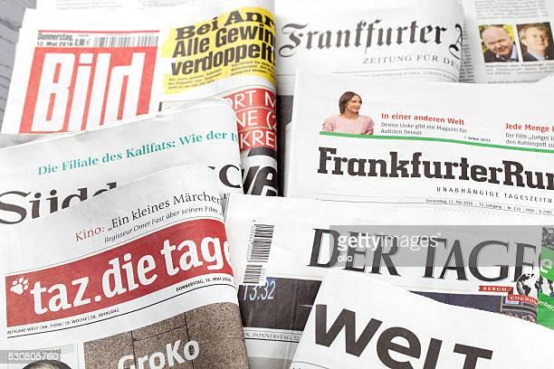 Klicken Sie auf Bewertung, deutschen Zeitung