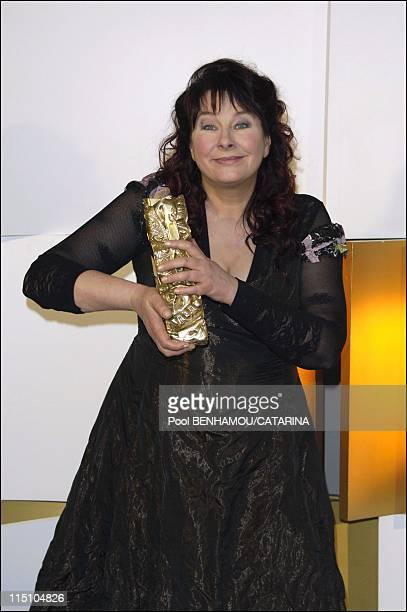 Press Room 30th Cesar Awards Ceremony in Paris France on February 26 2005 Yolande Moreau
