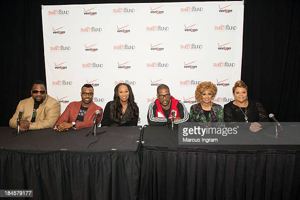 Press Room Bishop Hezekiah VaShawn Mitchell Yolanda Adams Donald Lawrence Dorinda ClarkCole and Tamela Mann during Verizon's How Sweet the Sound 2013...