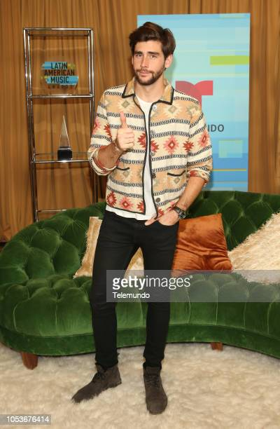 AWARDS 'Press Room' Pictured Alvaro Soler at the Dolby Theatre in Hollywood CA on October 25 2018