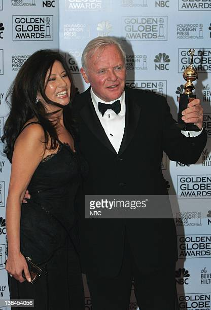 Anthony Hopkins recipient of the Cecil B DeMille Award and wife Stellaá