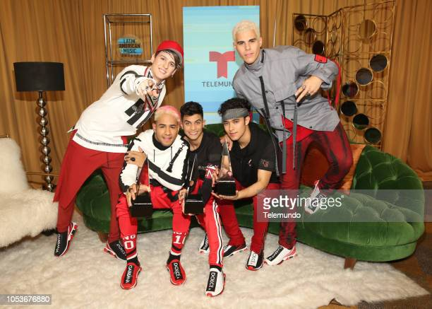 AWARDS Press Room Pictured CNCO at the Dolby Theatre in Hollywood CA on October 25 2018