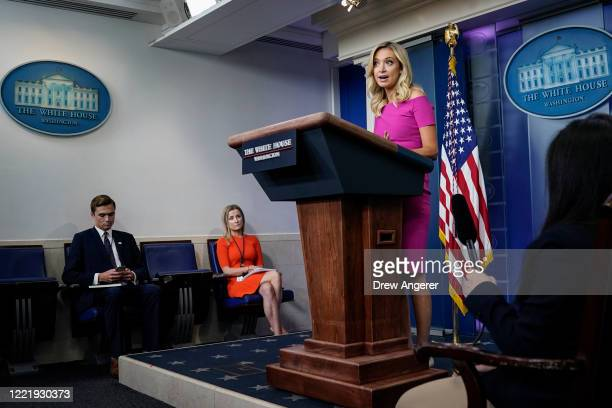 Press Secretary Kayleigh McEnany speaks during a press briefing at the White House on June 22, 2020 in Washington, DC. McEnany fielded questions...