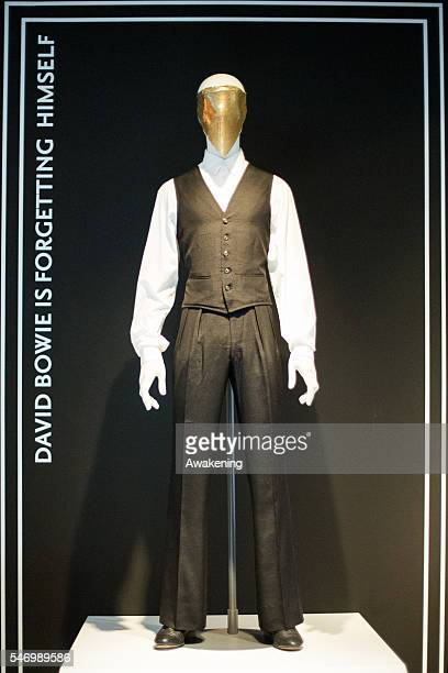 Press view of David Bowie Is exhibition at the MAMBO museum on July 13 2016 in Bologna Italy