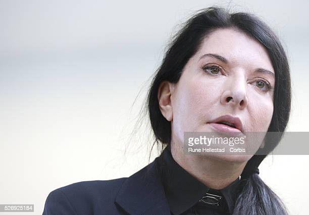 """Press view of Marina Abramovic's """"512 Hours"""" at the Serpentine Gallery."""