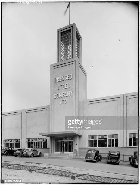 Pressed Steel Company, Cowley, Oxford, Oxfordshire, circa 1930s. Exterior view of the new premises of the Pressed Steel Company, showing the main...