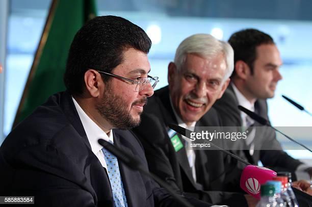 Pressekonferenz mit dem jordanischen Investor und Partner Hasan Ismaik beim TSV 1860 Munchen in der Allianz Arena mit Präsident Dieter Schneider