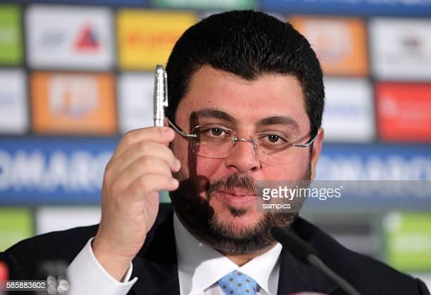 Pressekonferenz mit dem jordanischen Investor und Partner Hasan Ismaik beim TSV 1860 Munchen in der Allianz Arena