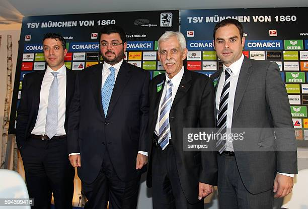 Pressekonferenz mit dem jordanischen Investor und Partner Hasan Ismaik beim TSV 1860 Munchen in der Allianz Arena mit Präsident Dieter Schneider und...