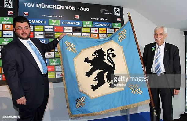 Pressekonferenz mit dem jordanischen Investor und Partnerr Hasan Ismaik beim TSV 1860 Munchen in der Allianz Arena mit Präsident Dieter Schneider mit...