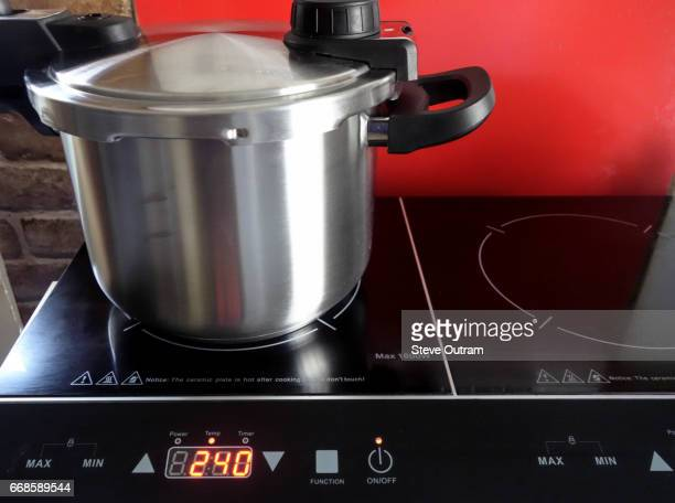 Pressure Cooker on Digital Electric Double Induction Cooking Hob
