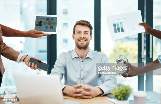 pressure doesn't get to me! - time management stock photos and pictures