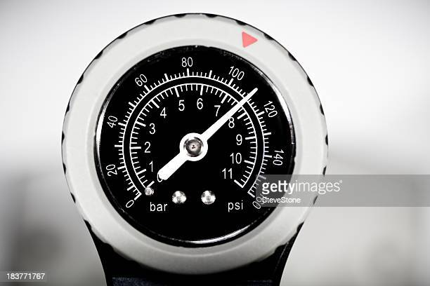 Pressure Gauge Dial showing 110