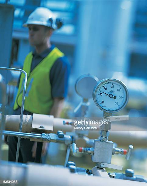 pressure gauge in power station - pressure gauge stock photos and pictures