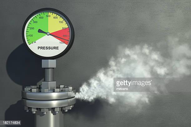 pressure gauge - releasing stock photos and pictures