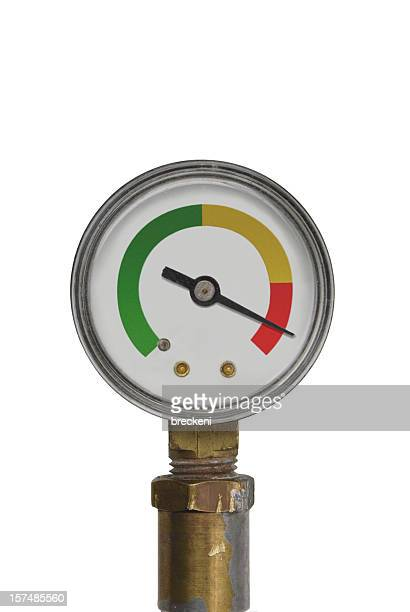 pressure gauge - red range